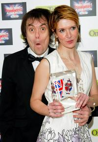 Kevin Eldon and Julia Davis at the British Comedy Awards 2004.