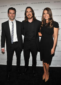 Todd Lieberman, Christian Bale and Sibi Blazic at the 2011 National Board of Review of Motion Pictures Gala.