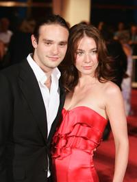 Charlie Cox and Lynn Collins at the premiere of