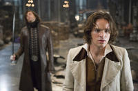 Prince Septimus (Mark Strong) threatens the heroic Tristan (Charlie Cox) in