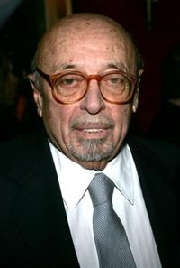 Ahmet Ertegun at the premiere of
