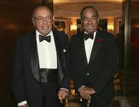 Ahmet Ertegun and Bobby Short at the surprise 80th birthday party for legendary musician Bobby Short.