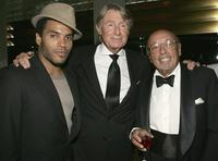 Lenny Kravitz, Director Joel Schumacher and Ahmet Ertegun at the surprise 80th birthday party for legendary musician Bobby Short.