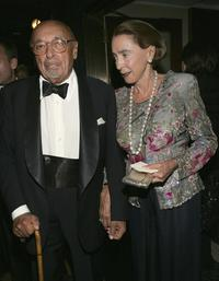 Ahmet Ertegun and Wife Mica Ertegun at the surprise 80th birthday party for legendary musician Bobby Short.