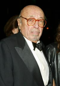 Ahmet Ertegun at the Warner Music Group Post-Grammy party.