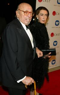 Ahmet Ertegun and Wife Mica Ertegun at the Warner Music Group Post-Grammy party.