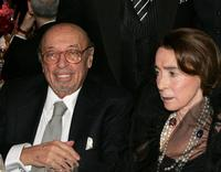 Ahmet Ertegun and Mica Ertegun at the Clive Davis Annual Grammy party.