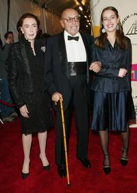 Ahmet Ertegun and his family at the Rock & Roll Hall Of Fame 19th Annual Induction Dinner.