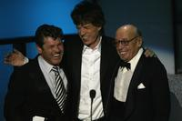 Jann S. Wenner, Mick Jagger and Ahmet Ertegun at the Rock & Roll Hall Of Fame 19th Annual Induction Dinner.