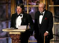 Jan Wenner and Ahmet Ertegun at the 20th Annual Rock And Roll Hall Of Fame Induction Ceremony.