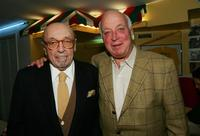 Ahmet Ertegun and Seymour Stein at the induction of the Rock & Roll Hall of Fame.