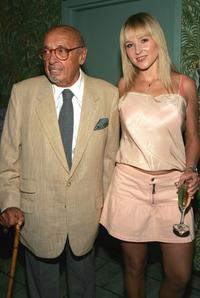 Ahmet Ertegun and Jewel at the Sidewalk Angels Foundation Benefit.