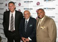 Lyor Cohen, Ahmet Ertegun and Kevin Liles at the UJA Federation music visionary of the year awards.