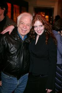 Bridget Barkan and her father at the opening night of