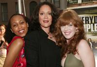 Sydnee Stewart, Iris Little-Thomas and Bridget Barkan at the premiere of
