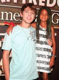 Max Thieriot and Willow Smith at the premiere of