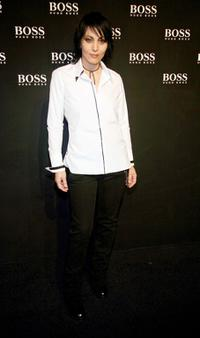 Joan Jett at the Boss Black Spring/Summer 2008 collection show.