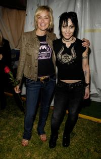 Sharon Stone and Joan Jett at the LA Pride Festival Main Stage.