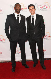 Aldis Hodge and Drew Roy at the 32nd Annual College Television Awards in California.
