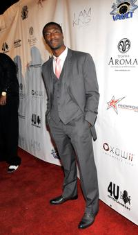 Aldis Hodge at the 3rd Annual Grammy Awards Gold Carpet post party with Sean