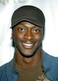 Aldis Hodge at the premiere Lounge after party of