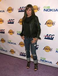Melissa Rivers at the Los Angeles Laker's official championship victory party.