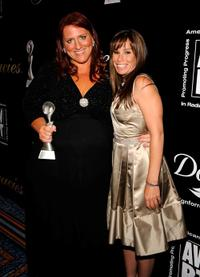 Ruby Gettinger and Melissa Rivers at the 34th Annual AWRT Gracie Awards Gala.