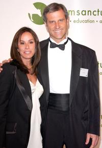 Melissa Rivers and Gene Baur at the 2008 Farm Sanctuary Gala.