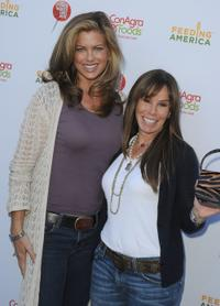 Kathy Ireland and Melissa Rivers at the celebrity rally on ABC's Wisteria Lane.