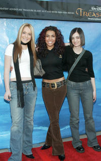 Lindsay Lohan, Christina Vidal and Haley Hudson at the California premiere of