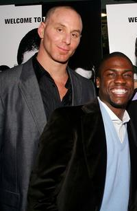 Matt Gerald and Kevin Hart at the premiere of