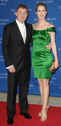 Bobby Flay and Stephanie March at the James Beard Foundation Awards.
