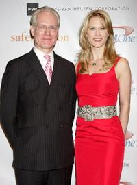 Tim Gunn and Stephanie March at the Safe Horizon Champion Awards.