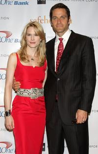 Stephanie March and Peter Hermann at the Safe Horizon Champion Awards.