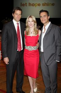 Peter Hermann, Stephanie March and Cheyenne Jackson at the Safe Horizon Champion Awards.