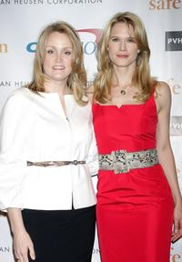 Stacy Morrison and Stephanie March at the Safe Horizon Champion Awards.