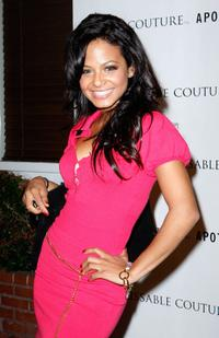 Christina Milian at the Kissable Couture lip gloss launch.