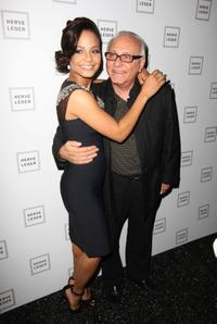 Christina Milian and designer Max Azria at the Mercedes-Benz Fashion Week Fall 2008.