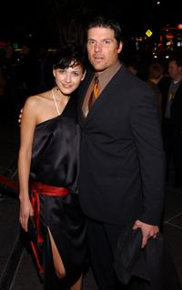 Paul Johansson and Gabriela at the premiere of