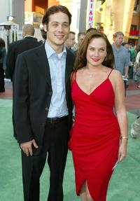 Mike Erwin and Joanna at the world premiere of