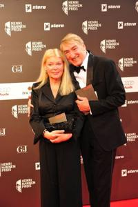 Barbara and Gottfried John at the Henri-Nannen-Awards.
