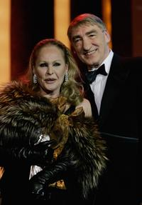 Ursula Andress and Gottfried John at the Diva Awards 2007.