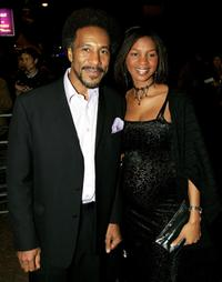Danny John-Jules and guest at the Screen Nation Film and Television Awards 2005.