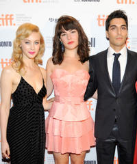 Sarah Gadon, Katie Boland and Keon Mohajeri at the TIFF Rising Stars party during the 2011 Toronto International Film Festival.