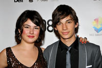 Katie Boland and Devon Bostick at the Canada premiere of
