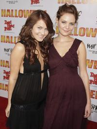 Scout Taylor-Compton and Hannah Hall at the premiere of
