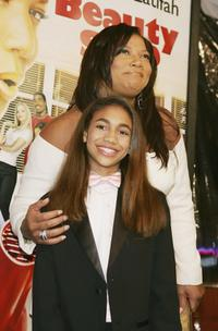 Paige Hurd and Queen Latifah at the premiere of