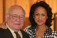Anne-Marie Johnson and Ed Asner at the Award Of Excellence Star presentation for the Screen Actors Guild.