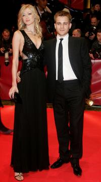 Siobhan Hewlett and Kevin Bishop at the premiere of