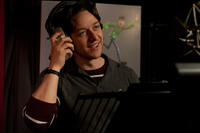 James McAvoy on the set of